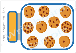 Free Cookie Number Poster come with our Busy Book Numbers Pack