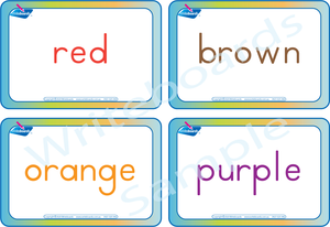 Free Color Name Flashcards come with our Busy Book Color Pack