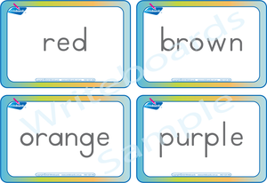 Busy Book Color Pack comes with Free Flashcards