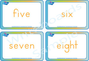 Free Number Names Flashcards come with our Number Busy Book