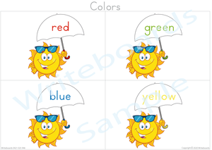 Busy Book Colors that your child has the umbrella top to the color name
