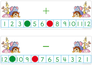 Bat and Ball Font Number Line, Stick and Ball Font Number Line