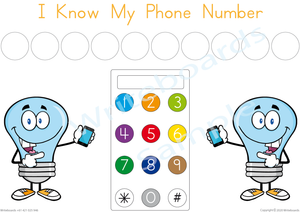 Free Phone Number Poster comes with our I Know My Phone Number Busy Book Pack