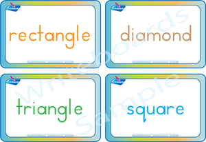 Free Flashcards come with our Shape Busy Book