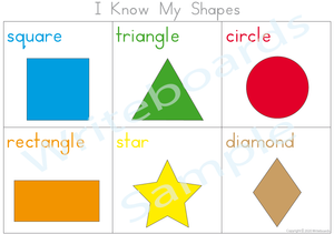 Free Shapes Poster comes with our Shape Busy Book