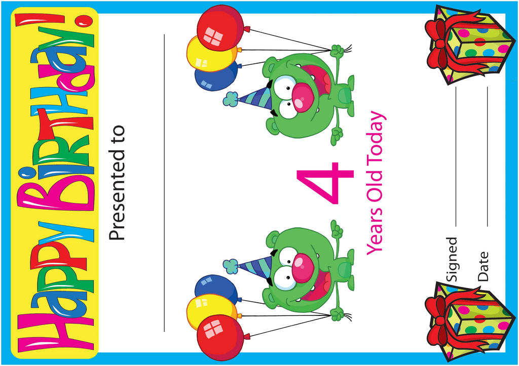 Birthday Certificates created by Writeboards