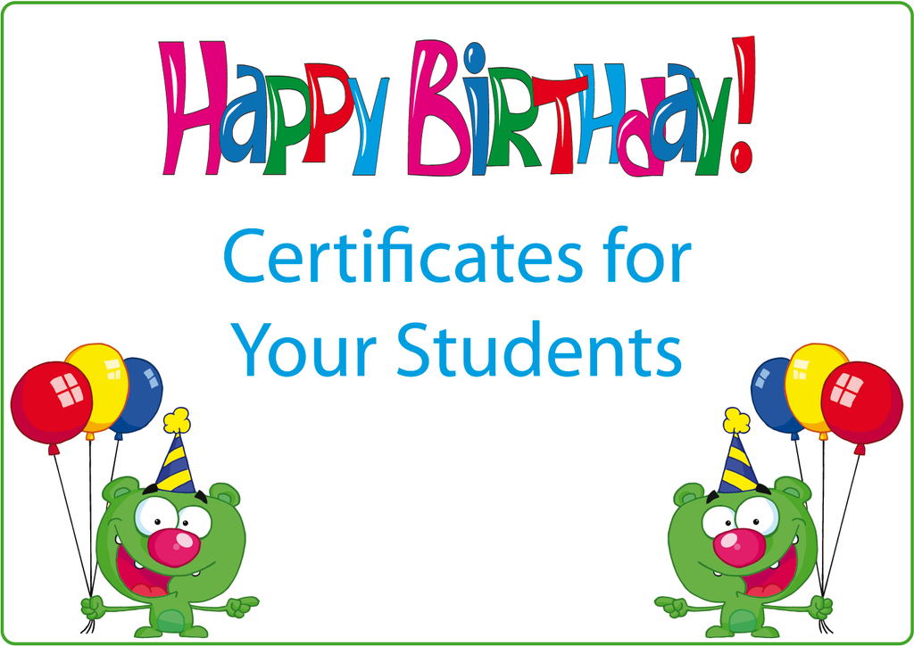 Birthday Certificates - Writeboards