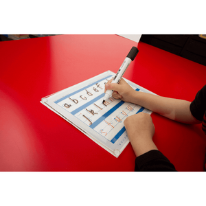 SA Beginners Alphabet Advanced School Kit includes our educational reusable writing board and free worksheets
