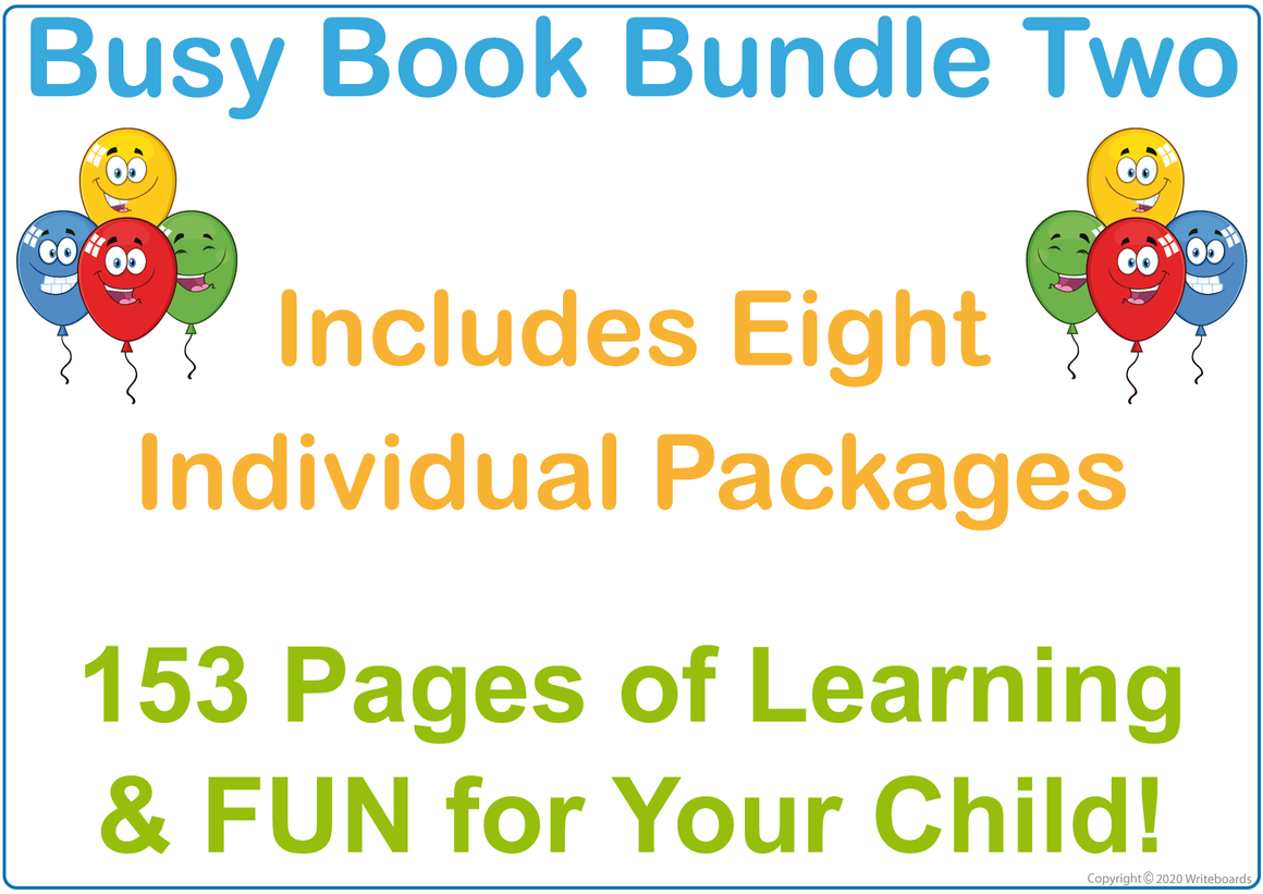 Busy Book Bundle Two for QLD Handwriting includes 153 pages