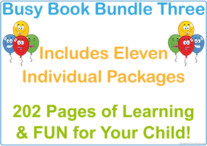 Busy Book Bundle Three for SA Handwriting includes 202 pages