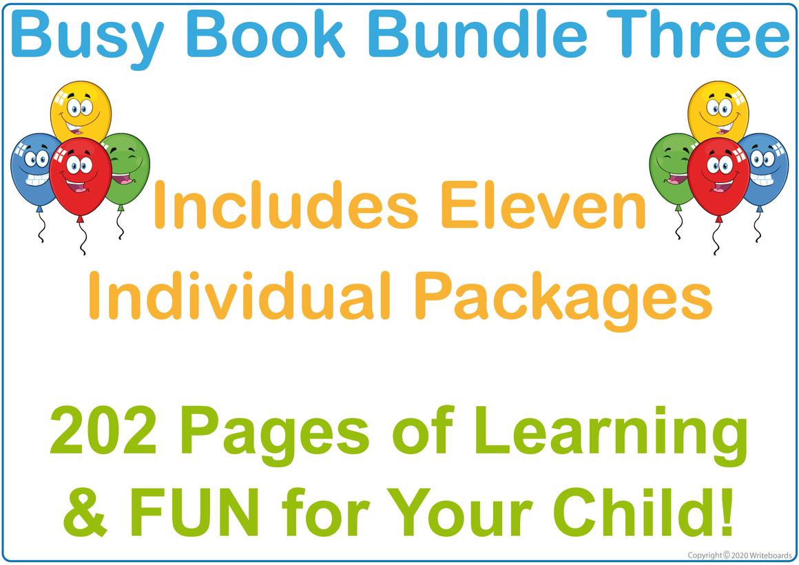 Busy Book Bundle Three for TAS Handwriting includes 202 pages