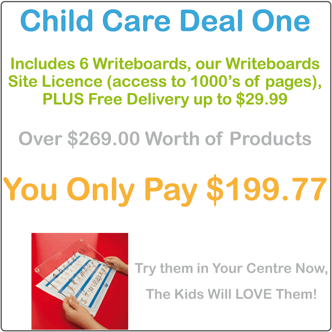 Reusable Writing Boards and Worksheets for Childcare Centre and Kindergarten, Eco-Friendly Writing Boards for Childcare