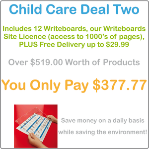 Childcare & Kindergartens Reusable Writing Boards and Worksheets, Childcare Resources, Preschool Package Writing Board & Worksheets