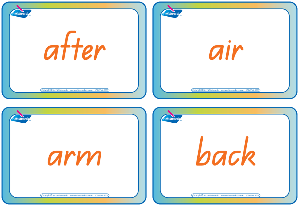 QLD Modern Cursive Font Worksheets - Compound Words - Flash cards