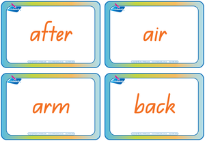QLD Modern Cursive Font Compound Words Flashcards, Colour coded QLD Compound Words