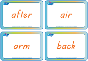 TAS Modern Cursive Font compound word flashcards for teachers, TAS colour coded compound words