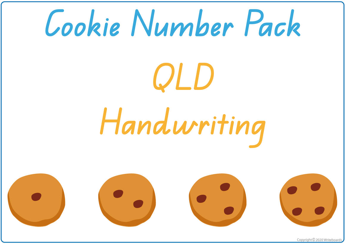 QLD Busy Book Number Pack, Busy Book Numbers and Cookies for QLD