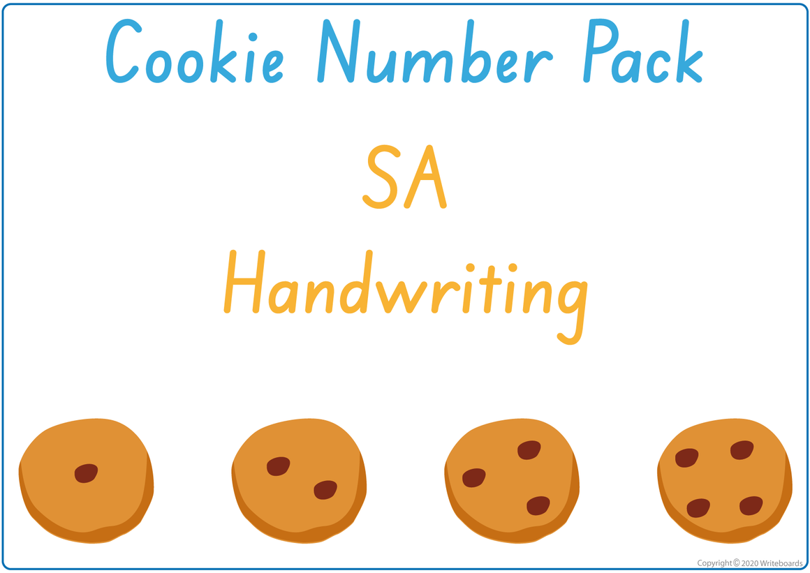 Busy Book Numbers Pack for SA, Busy Book Numbers and Cookies for SA