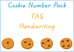 Busy Book Numbers Pack for TAS, Busy Book Numbers and Cookies for TAS