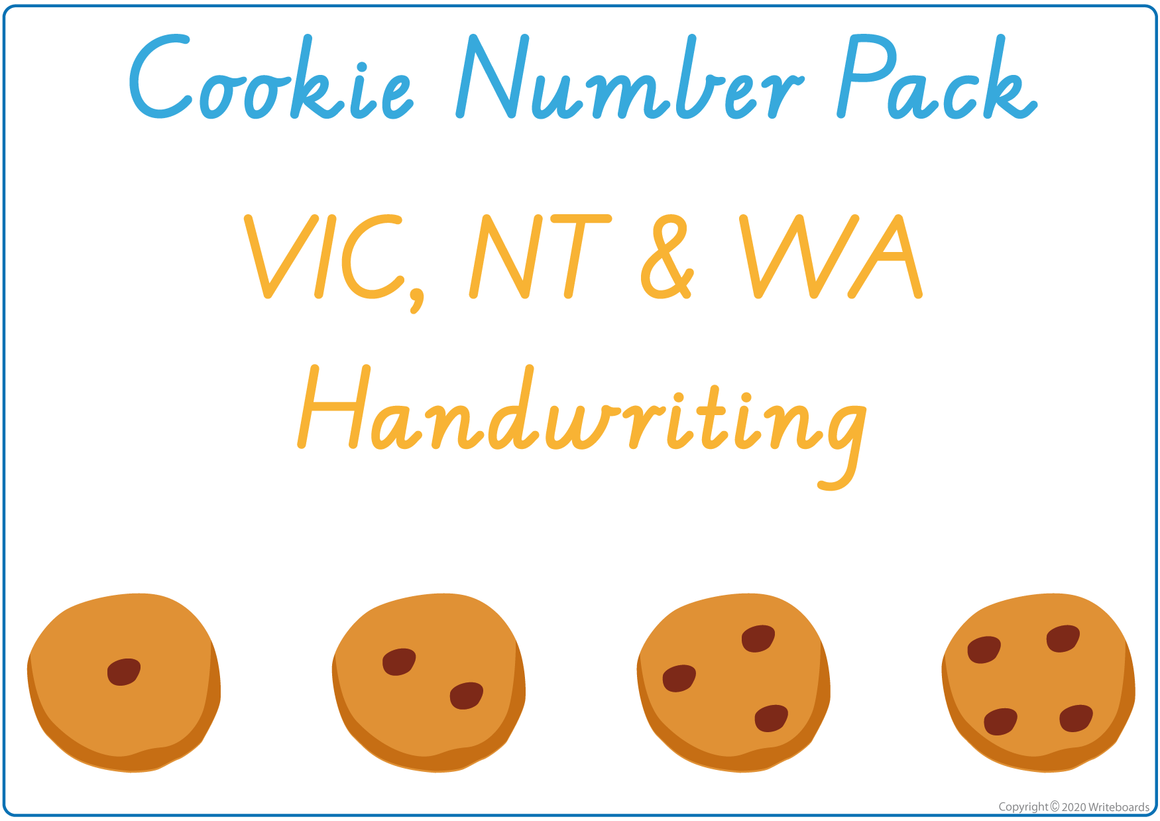 Busy Book Numbers Pack for VIC, WA & NT Handwriting, Busy Book Numbers VIC & WA