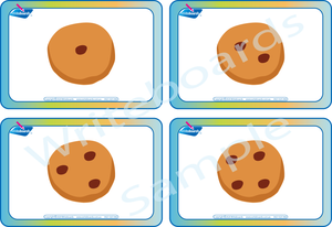 Free Cookie Flashcards come with our Number Busy Book