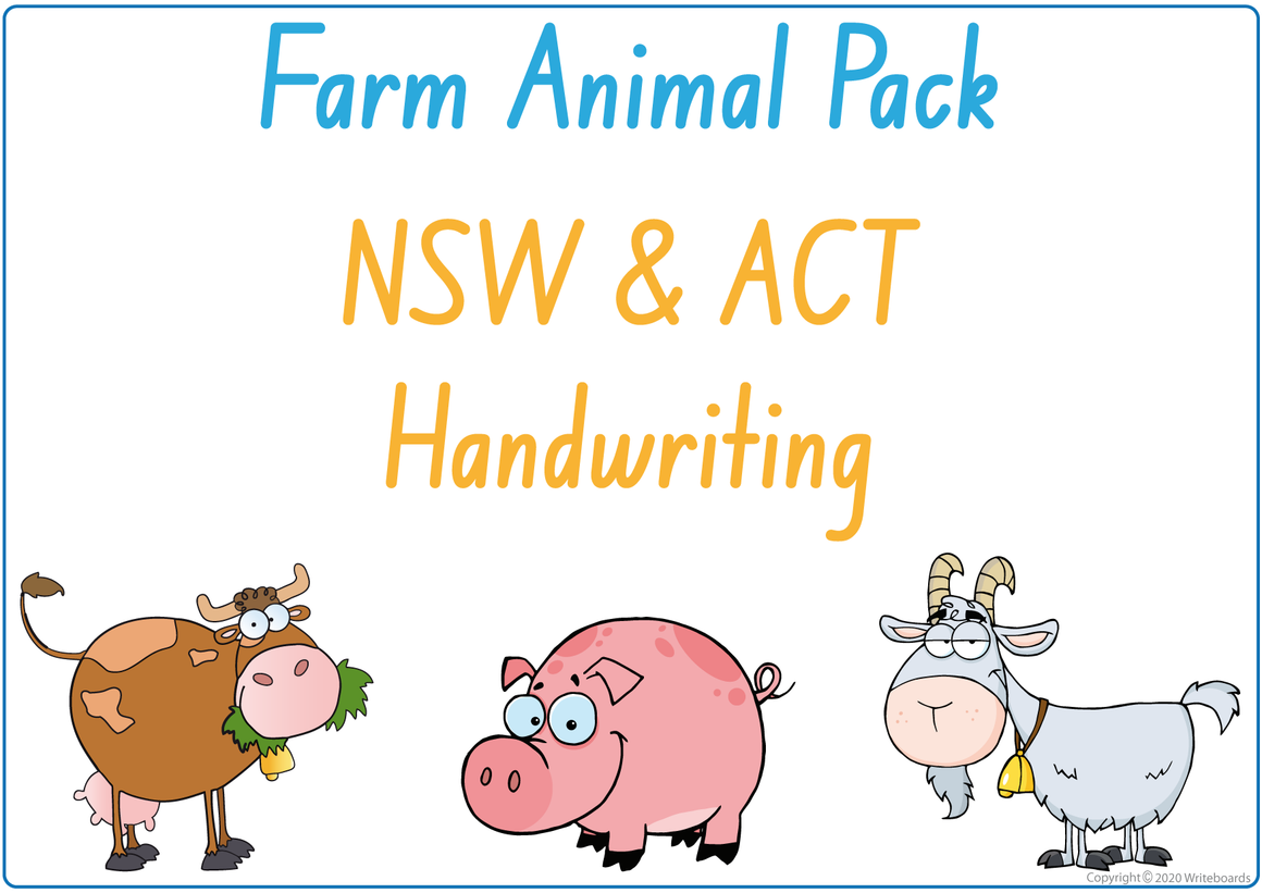 NSW Foundation Font Busy Book Farm Animals Pack also contains Flashcards and a Bingo game
