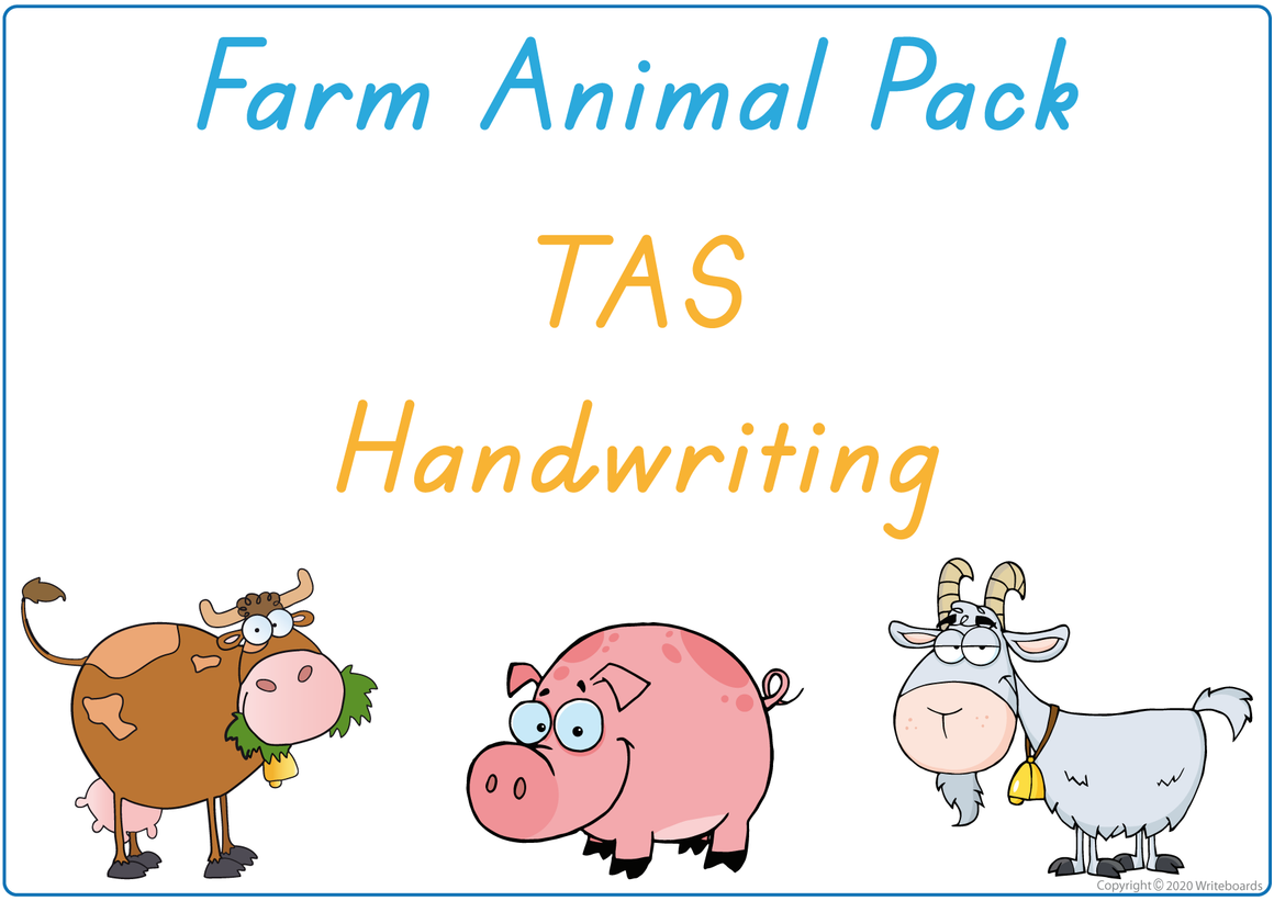 TAS Beginner's Font Busy Book Farm Animals Pack also contains Flashcards and a Bingo game
