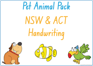 NSW Foundation Font Busy Book Pet Animals Pack also contains Flashcards and a Bingo game