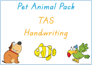TAS Beginner's Font Busy Book Pet Animals Pack also contains Flashcards and a Bingo game