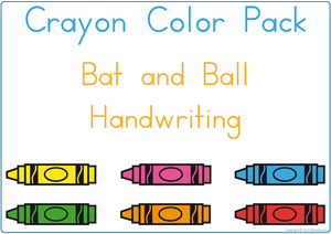 Busy Book Color Package using Crayons, Teach Your Child Colors