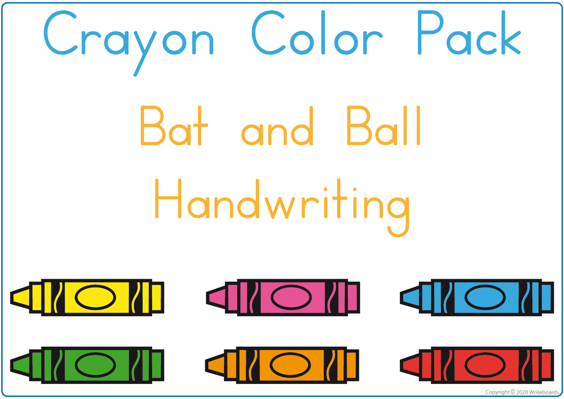 Learning Colors using Crayons - Bat and Ball Handwriting