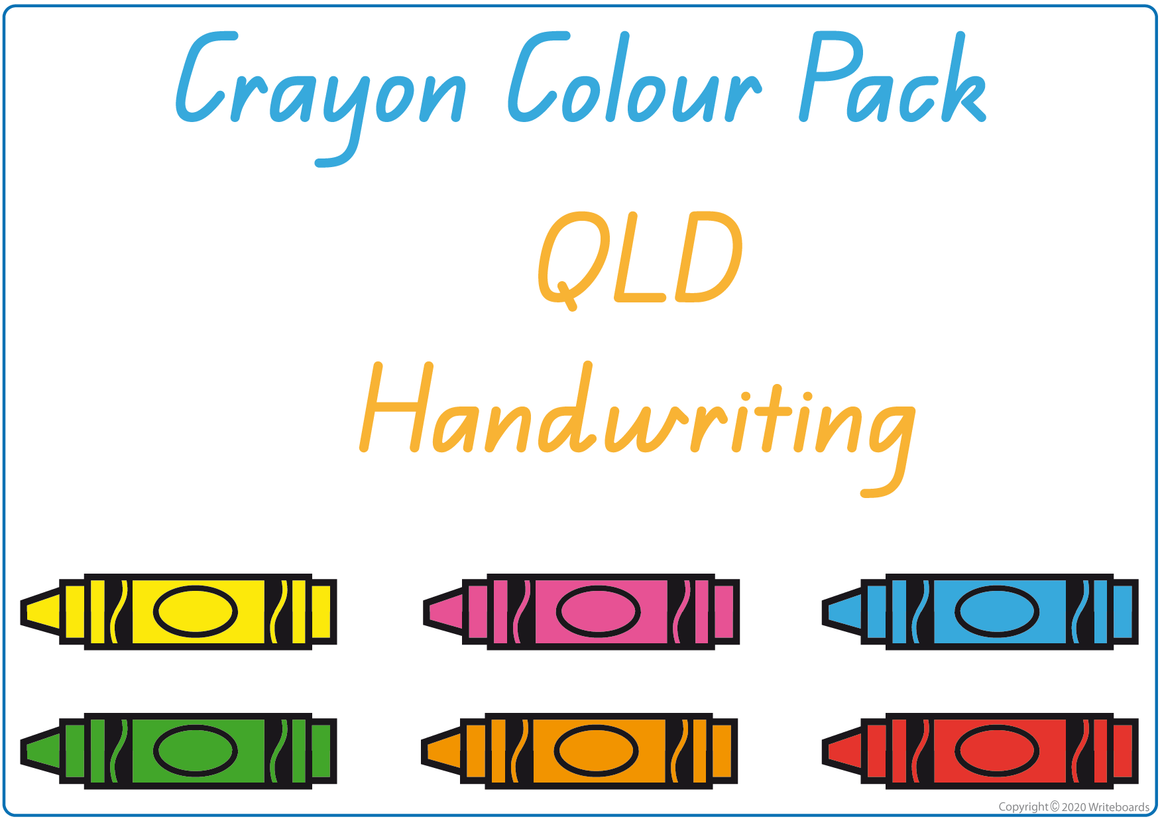 Busy Book to Learn Your Colours Pack for QLD Handwriting, QLD Beginner Font Busy Book