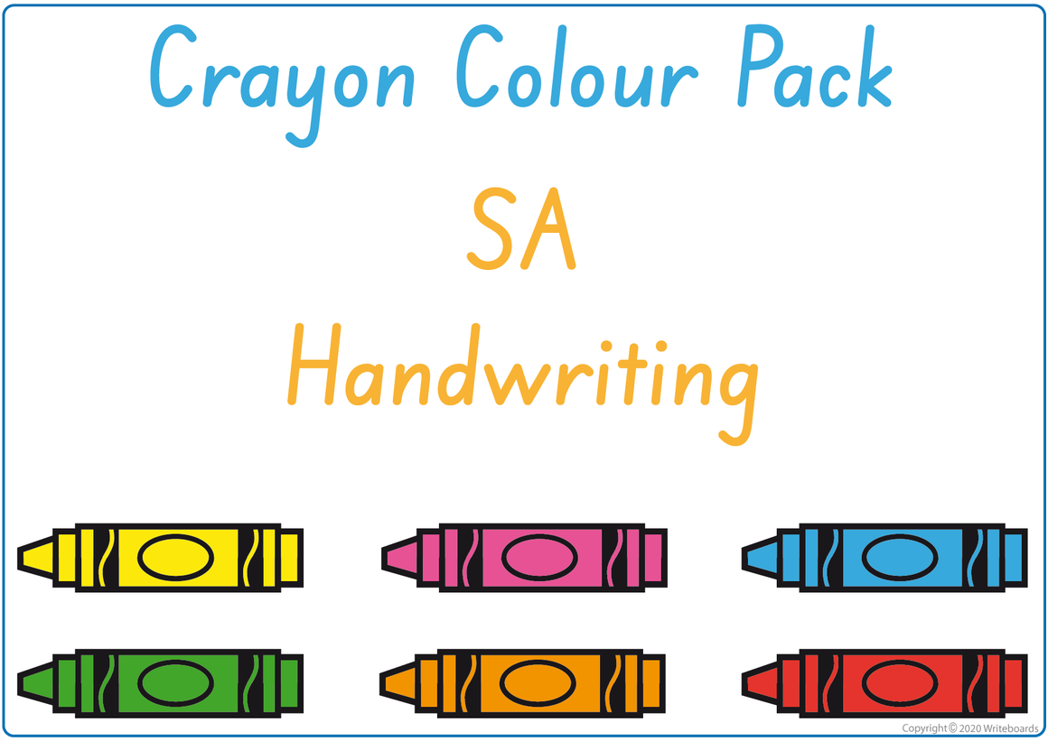 Busy Book to Learn Your Colours Pack for SA Handwriting, SA Beginner's Alphabet Busy Book