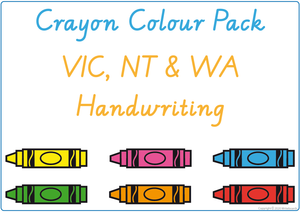 Learning Colours using Crayons - VIC, WA & NT Handwriting