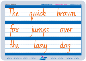 Free NSW Foundation Font handwriting worksheets for Occupational Therapists and Tutors
