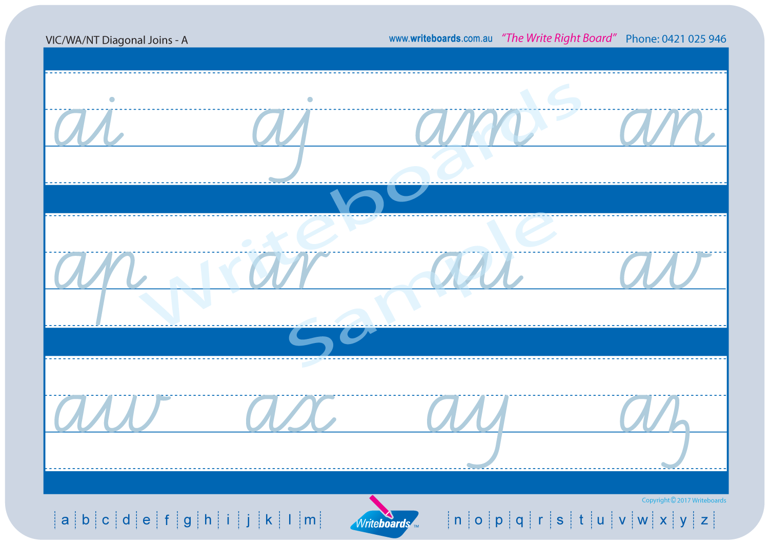 ... VIC Modern Cursive Font Worksheets using Cursive Writing created by  Writeboards ...
