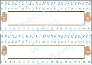 Childcare and Kindergarten Desk Strips for TAS, TAS Modern Cursive Font Desk Strips for Childcare