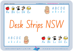 NSW Foundation Font Desk Strips for Teachers and Schools