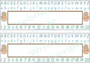 Childcare and Preschool Desk Strips for SA, SA Modern Cursive Font Desk Strips for Childcare