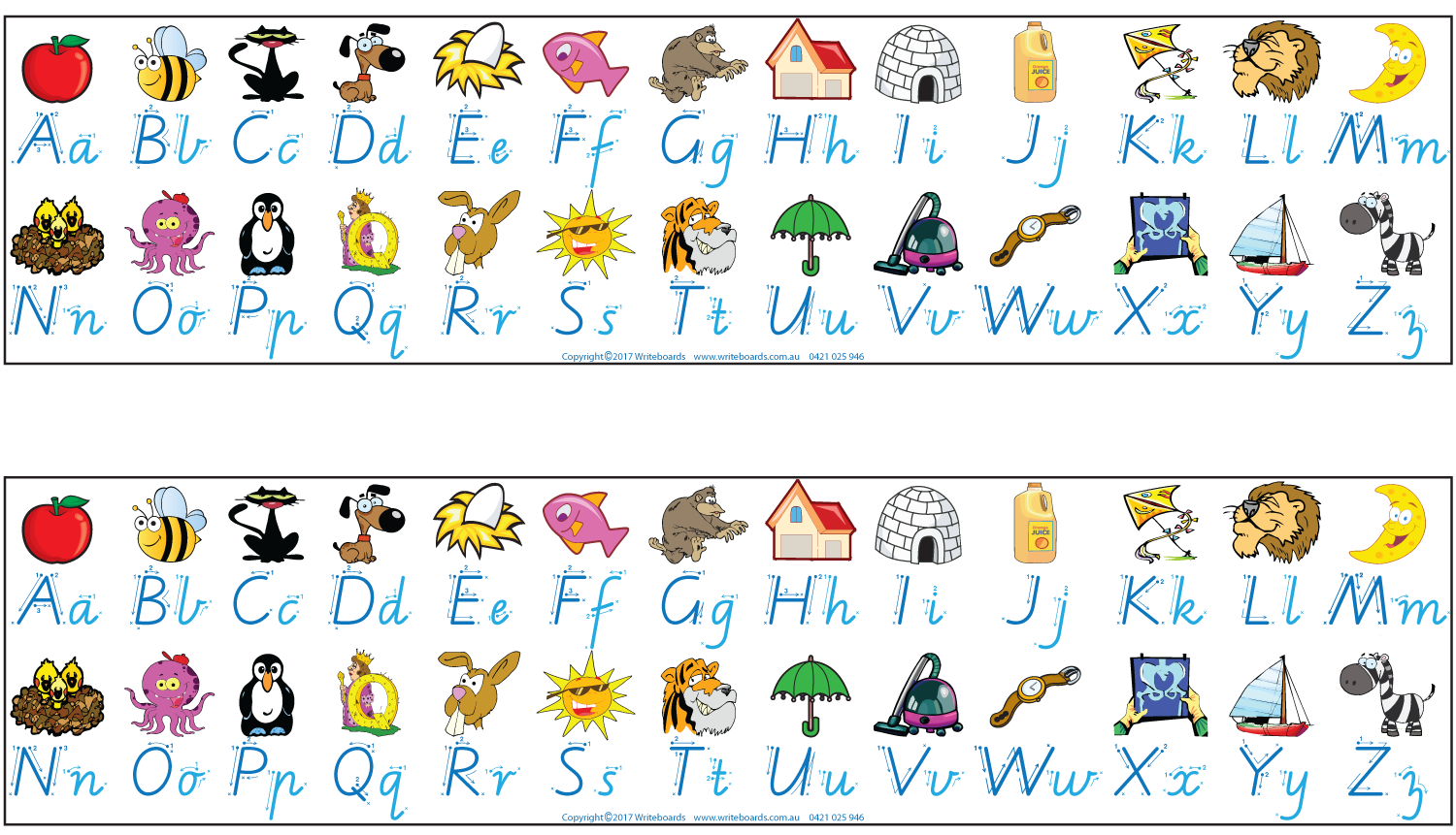 It is a picture of Alphabet Strip Printable pertaining to dnealian