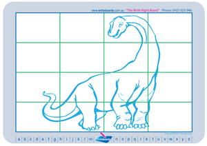 Learn to draw dinosaurs. Excellent for special needs children.