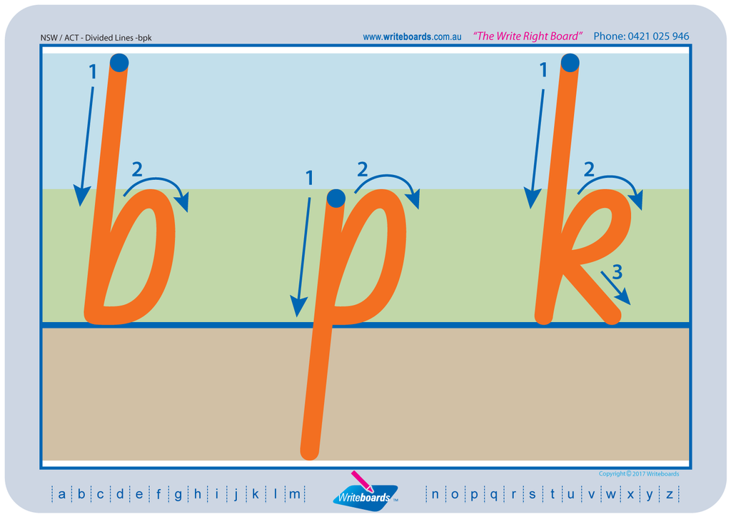 NSW Foundation Font Divided Line letter formation tracing worksheets and literacy resources for teachers and schools.