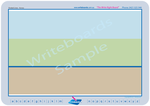 Plain divided lines worksheets created by Writeboards. Special Needs Worksheets.