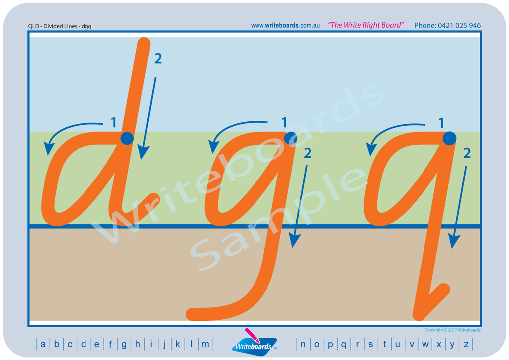 QLD Modern Cursive Font Divided Line letter formation tracing worksheets and literacy resources for teachers.