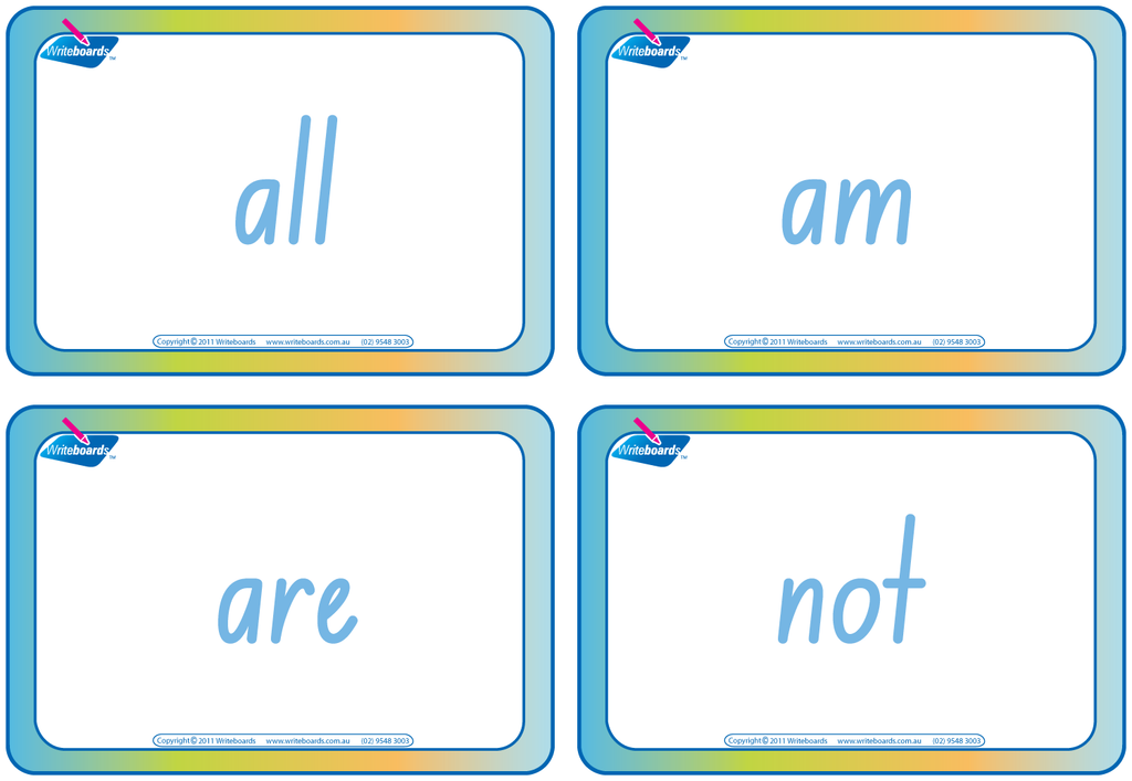 NSW Foundation Font Dolch Words Flashcards. Completed in NSW and ACT handwriting.