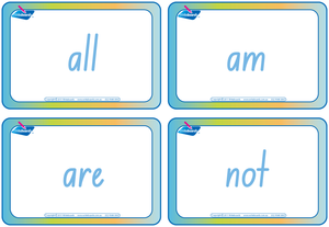 Dolch Words Flashcards completed using NSW and ACT handwriting. Great for Special Needs children.