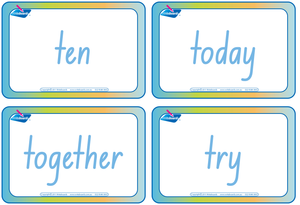 NSW Foundation Font Dolch Words Flashcards for Childcare and Preschool