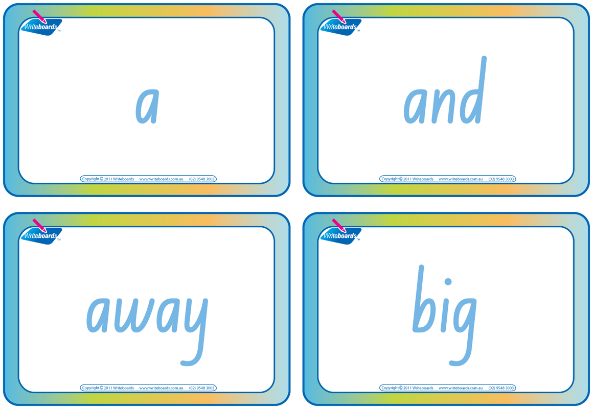 Dolch Words Flashcards completed using NSW Foundation Font for Tutors and Occupational Therapists