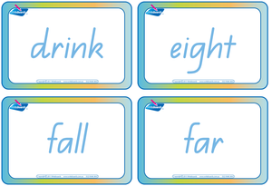 QLD Dolch Words Flashcards for Childcare and Kindergartens