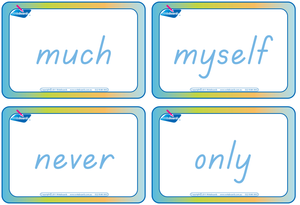 Dolch Words Flashcards completed using TAS Modern Cursive Font for Tutors and Occupational Therapists